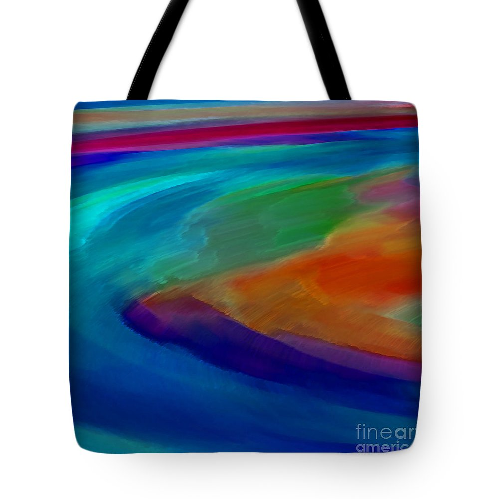 Abstract Tote Bag featuring the digital art Shoal by ME Kozdron