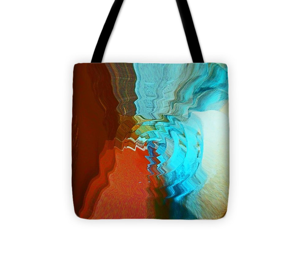 Abstract Tote Bag featuring the photograph Shock Wave by Marcia Lee Jones