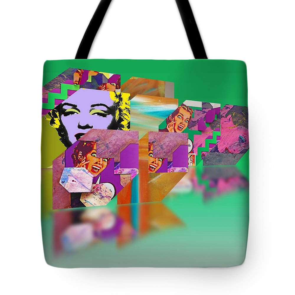 Scream Tote Bag featuring the painting Shocking Green by Charles Stuart