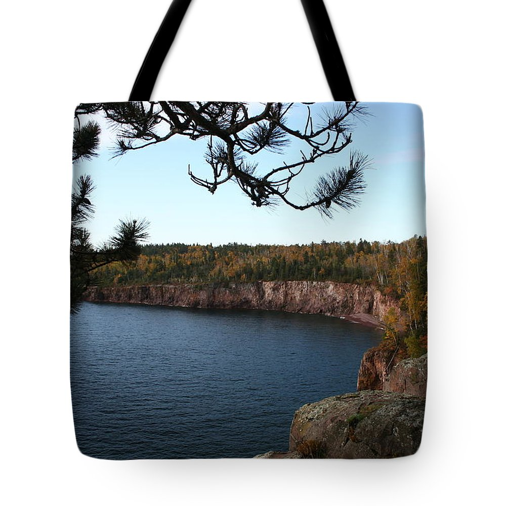 Tote Bag featuring the photograph Shovel Point From Crystal Creek Overlook by Joi Electa