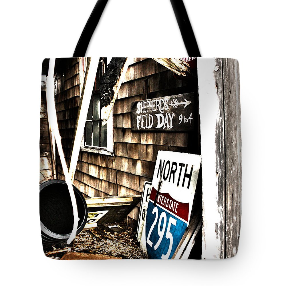 Signs Tote Bag featuring the photograph Signs N Stuff by Erin Rosenblum