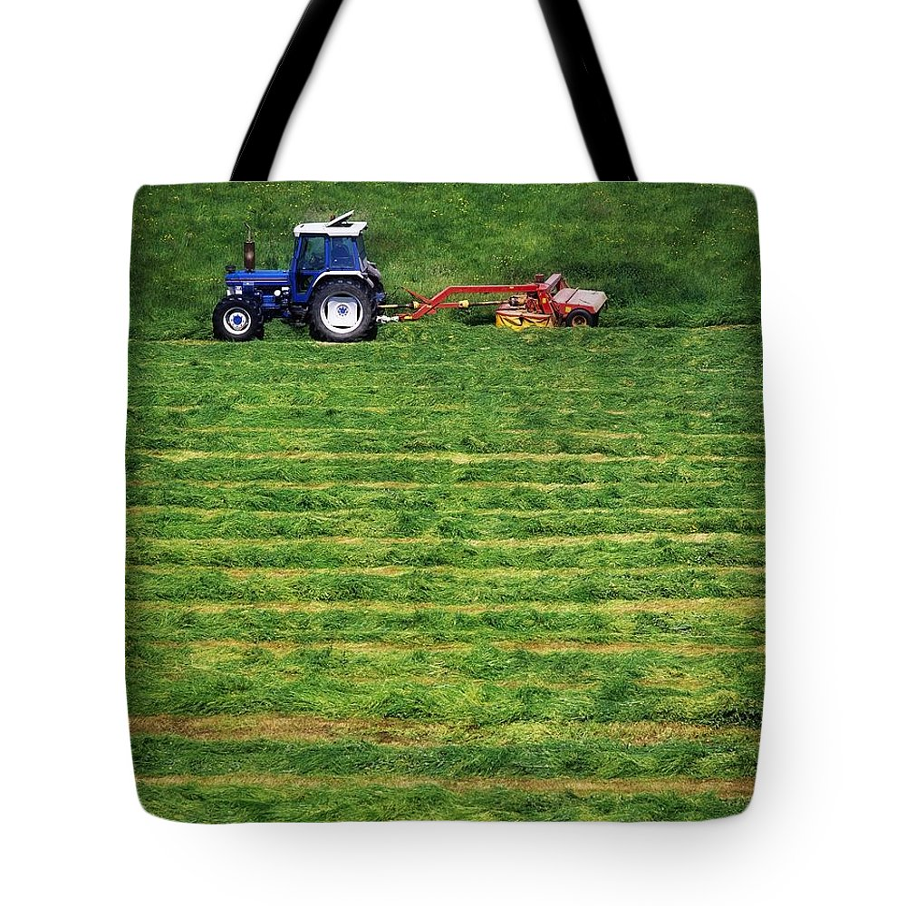 Animal Feed Tote Bag featuring the photograph Silage Making, Ireland by The Irish Image Collection