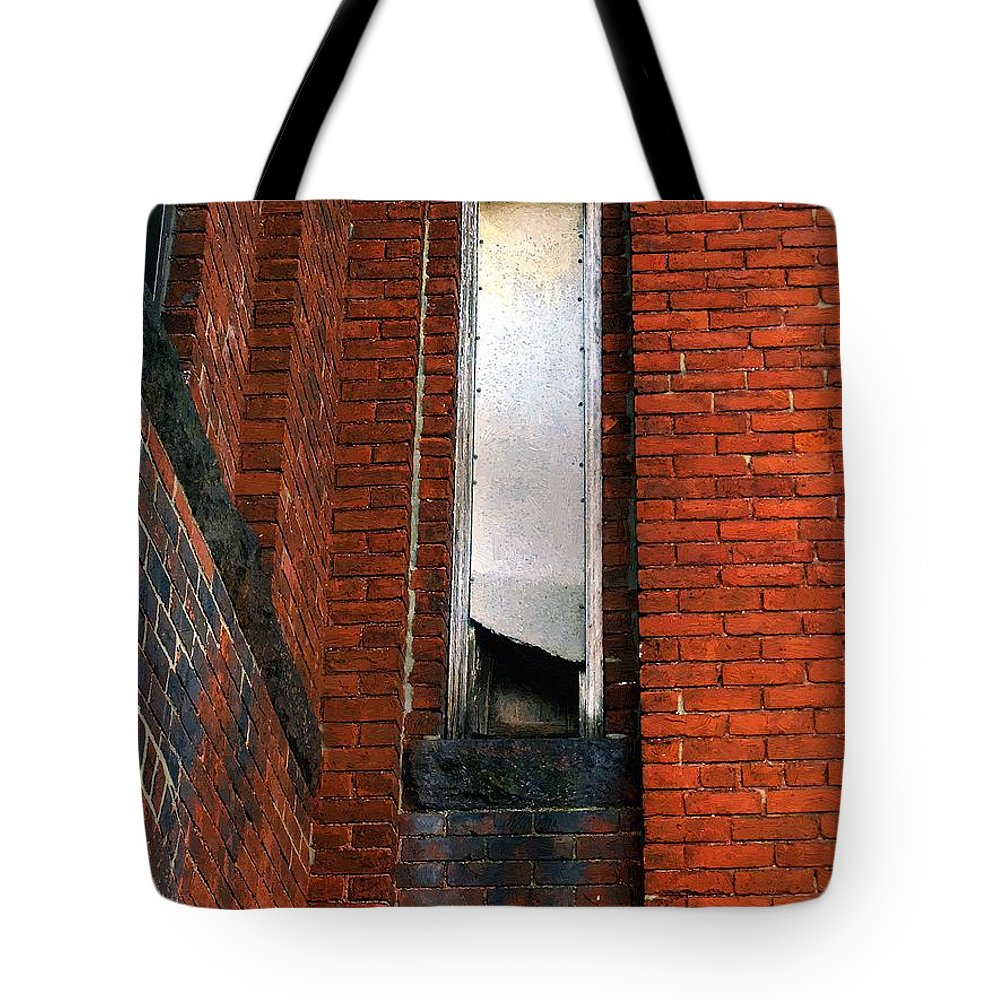 Window Tote Bag featuring the painting Silk Mill Soot by RC DeWinter