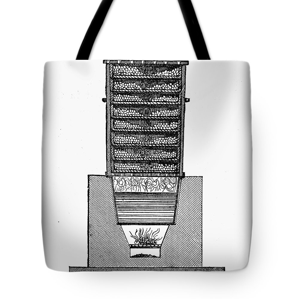 19th Century Tote Bag featuring the photograph Silk Production by Granger