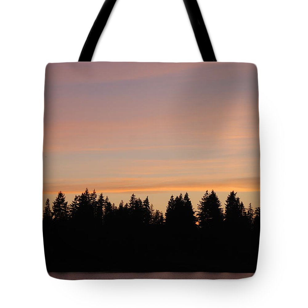 Sunset Tote Bag featuring the photograph Silver Lake Sunset by Michael Merry