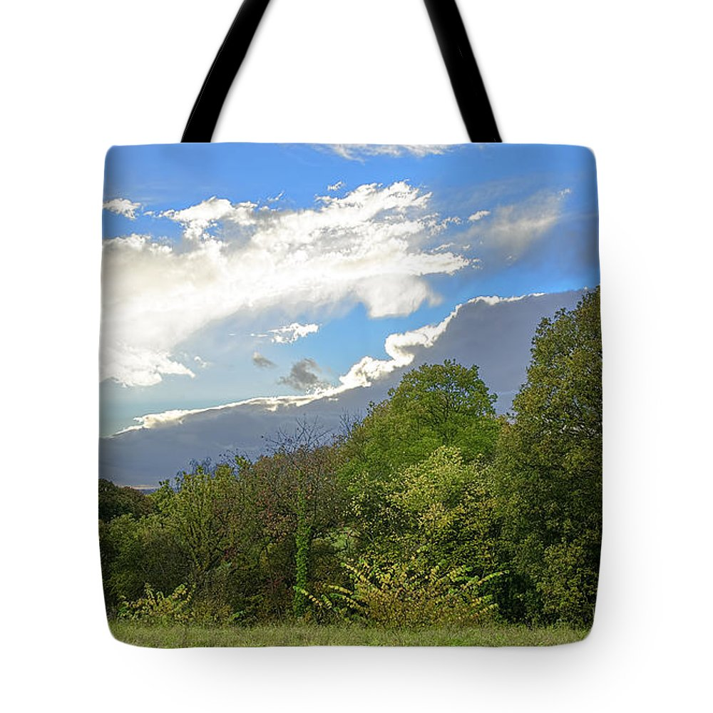 Clouds Tote Bag featuring the photograph Silver Lining by Nick Field