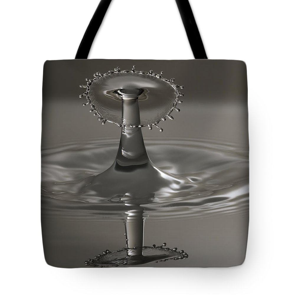 Water Tote Bag featuring the photograph Silver Reflections by Nick Field