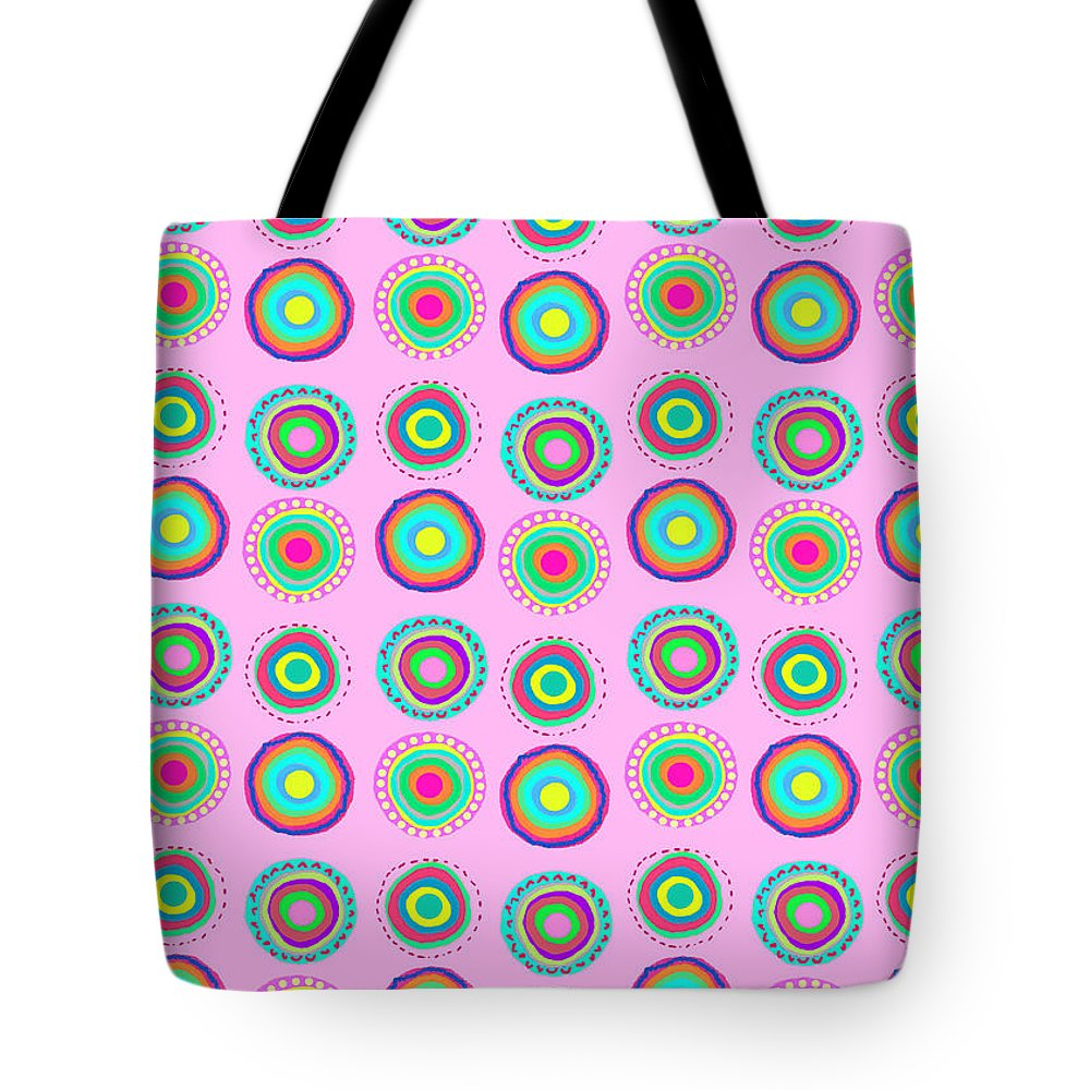 Simple Spots (digital) By Louisa Knight (contemporary Artist) Tote Bag featuring the digital art Simple Spots by Louisa Knight