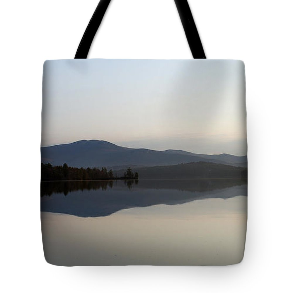 Lake Tote Bag featuring the photograph Simplicity by Skip Willits