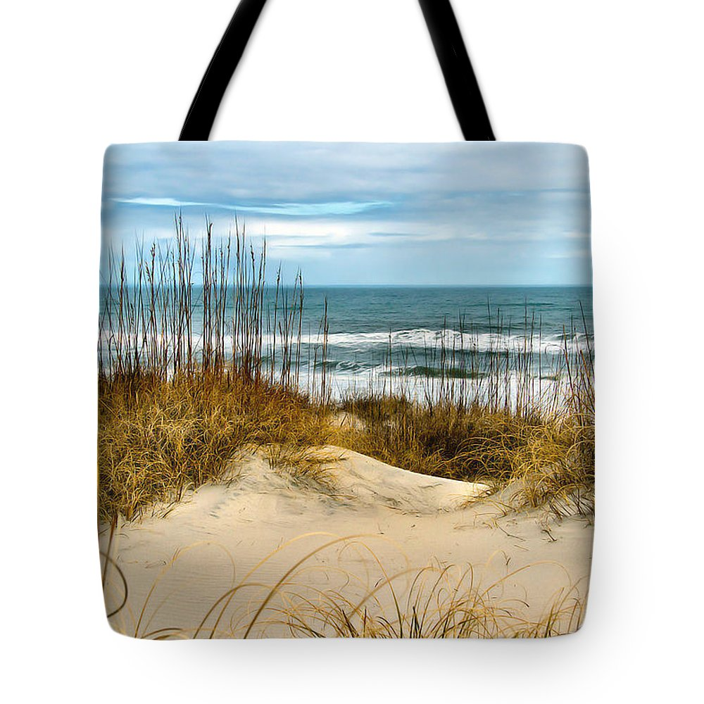 Beach Tote Bag featuring the photograph Simply The Beach by Nadine Lewis