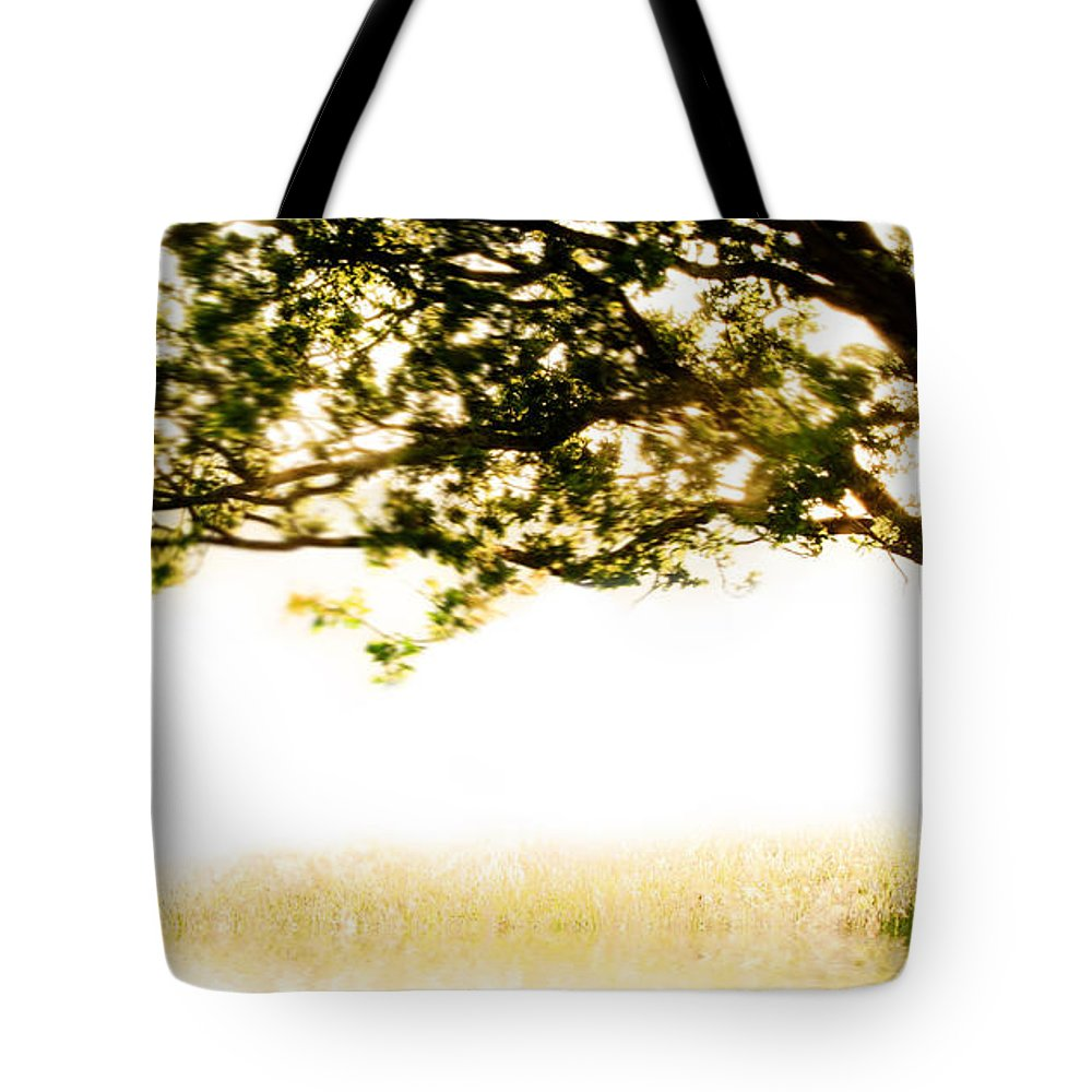 Tree Tote Bag featuring the photograph Single Tree In Motion by Simon Bratt Photography LRPS