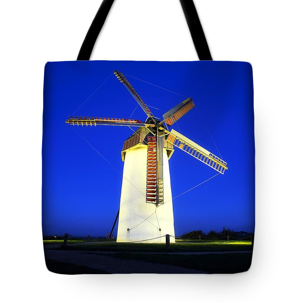 Blue Sky Tote Bag featuring the photograph Skerries Windmill, Co Dublin, Ireland by The Irish Image Collection