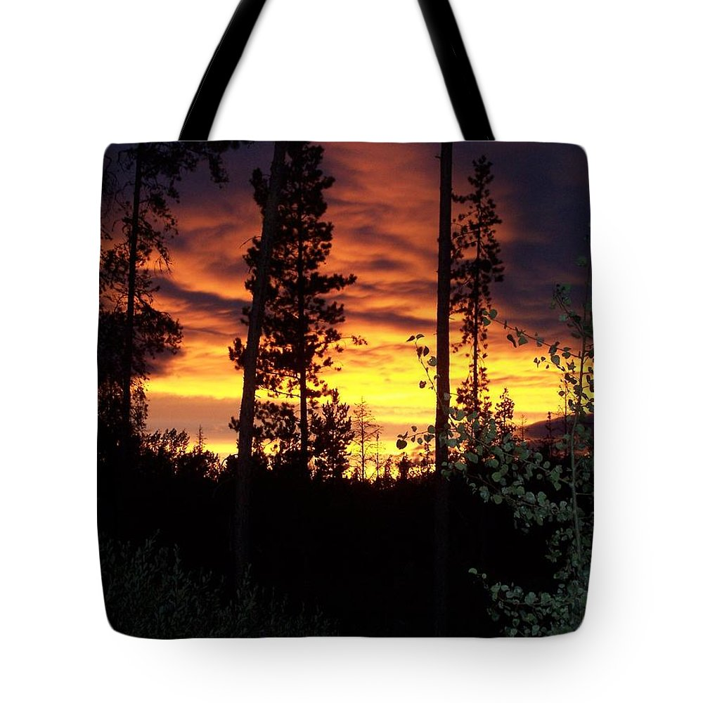 Sky Tote Bag featuring the photograph Sky On Fire by Susan Saver