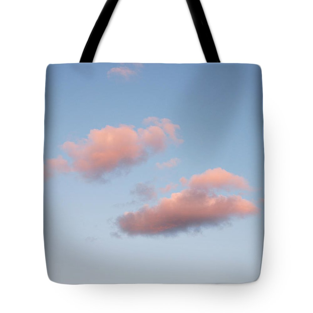 Sky Tote Bag featuring the photograph Sky Series - A Little Pink by Kathleen Grace