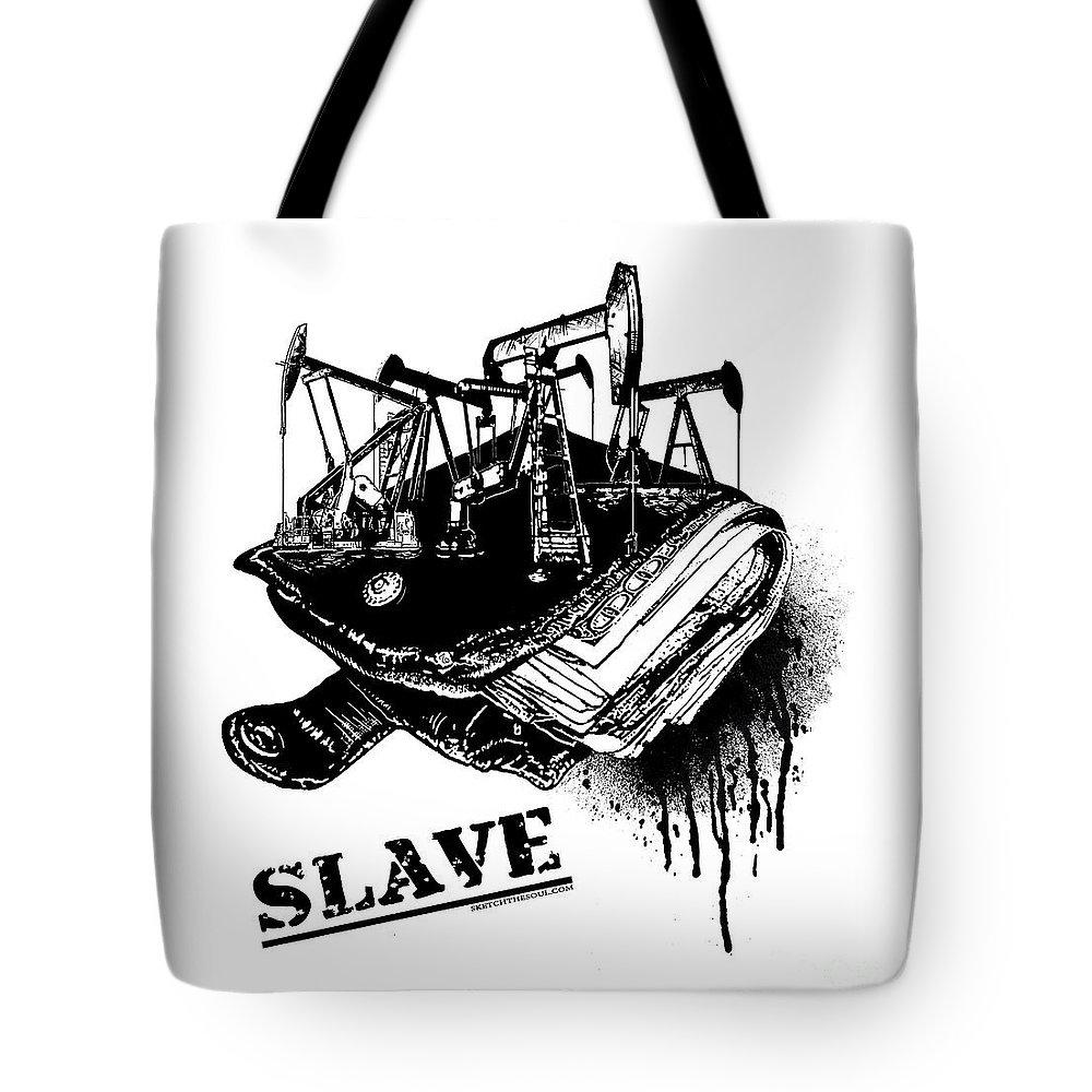 Tony Koehl Tote Bag featuring the mixed media Slave by Tony Koehl