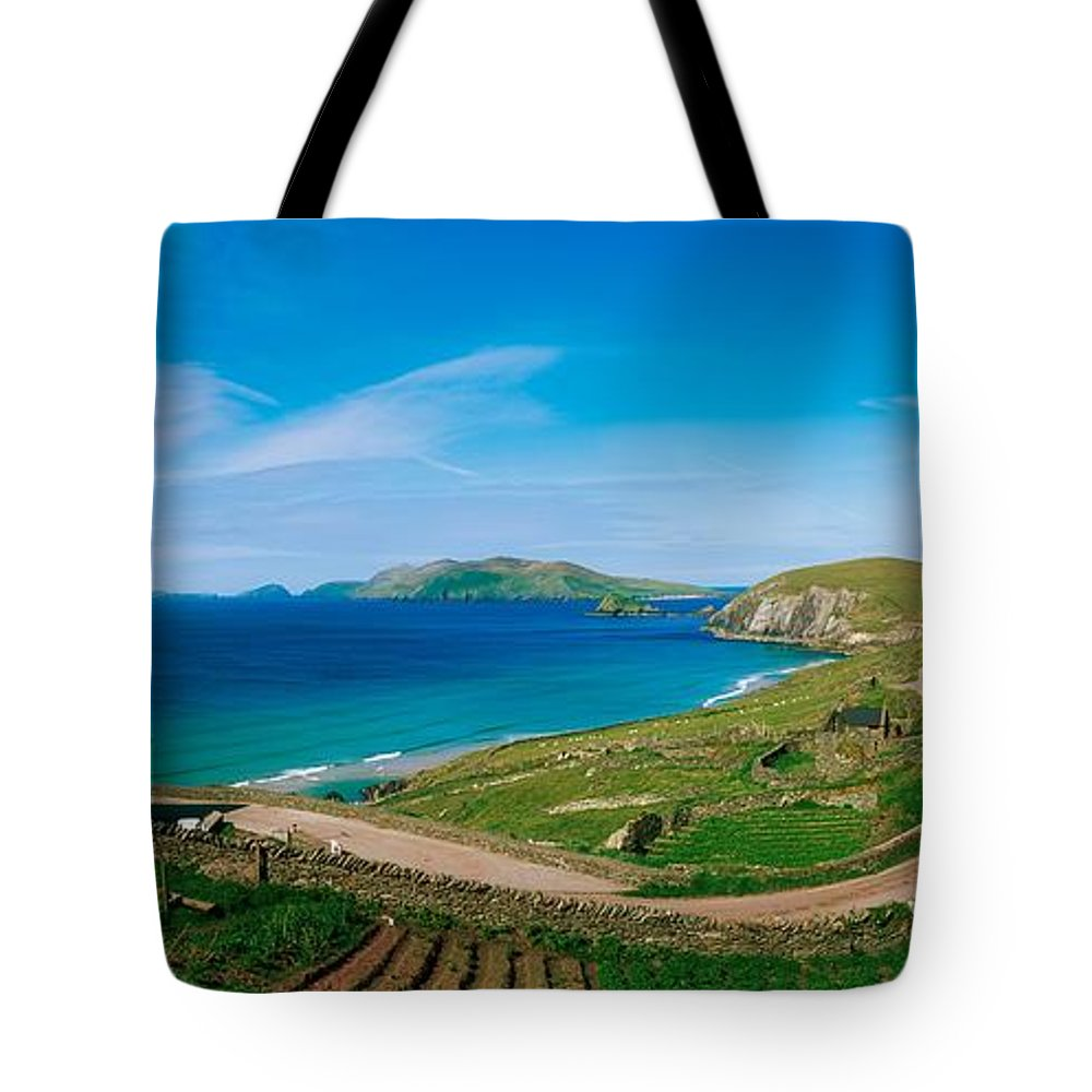 Beach Tote Bag featuring the photograph Slea Head & Blasket Islands, Dingle by The Irish Image Collection