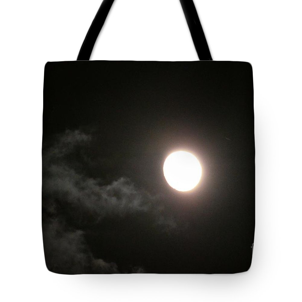 Slithering Moonlit Clouds Tote Bag featuring the photograph Slithering Moonlit Clouds by Maria Urso