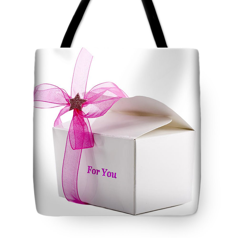 Anniversary Tote Bag featuring the photograph Small Box Of Chocolates by Simon Bratt Photography LRPS