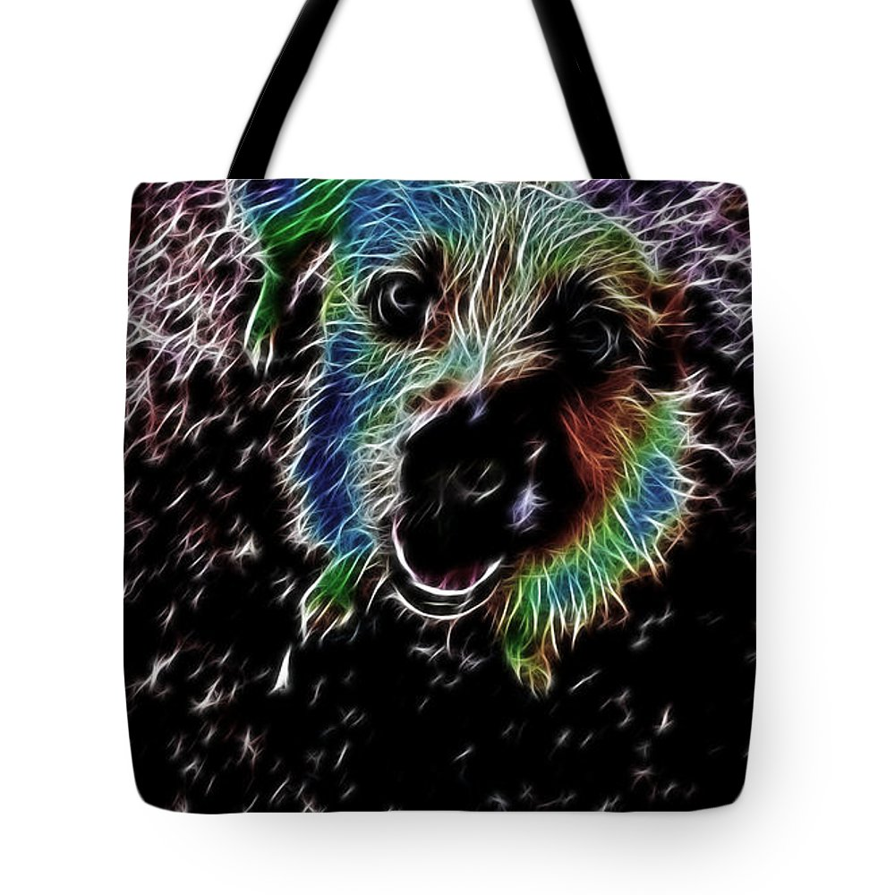 Fox Terrier Tote Bag featuring the photograph Small But Able To Make An Almighty Noise V2 by Douglas Barnard