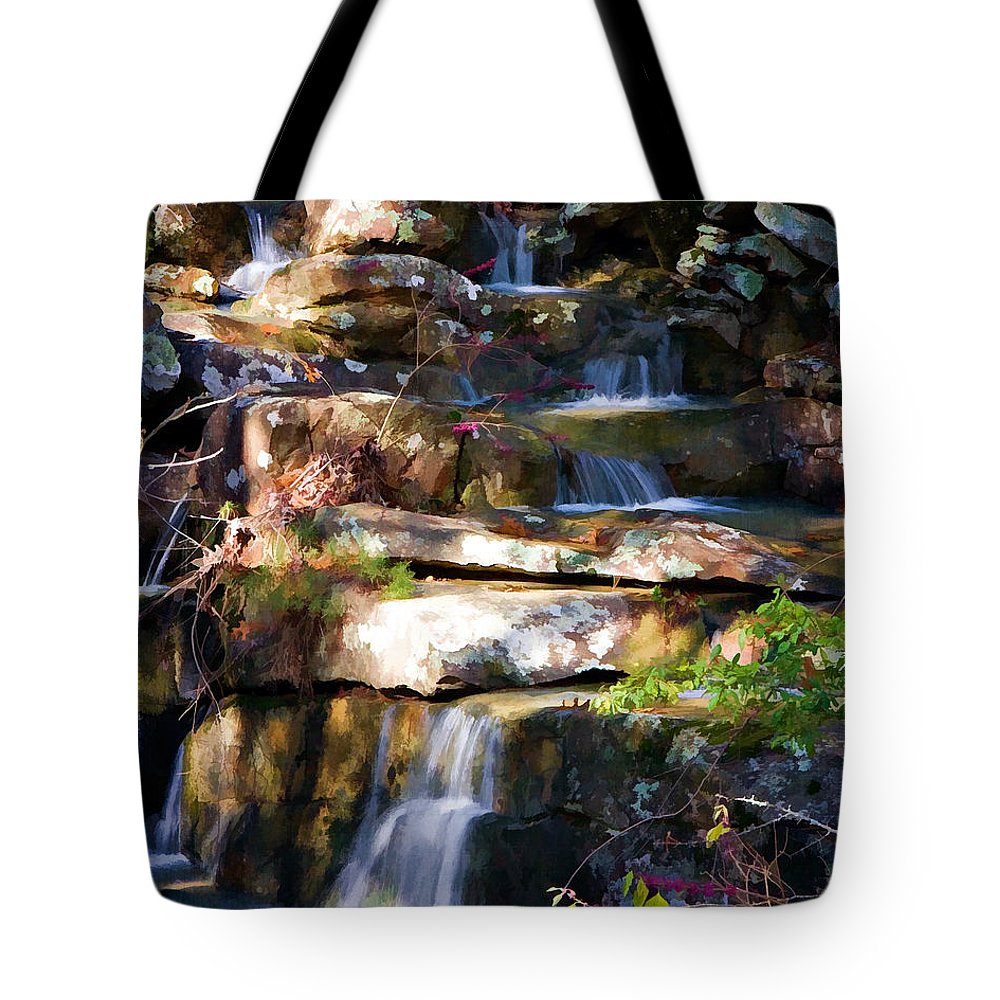 Autumn Tote Bag featuring the photograph Small Falls by Lana Trussell