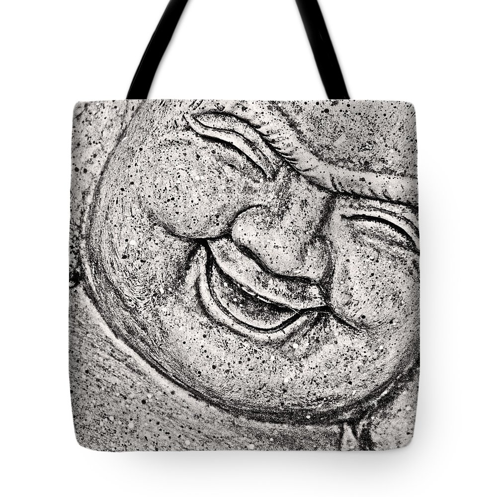 Buddha Tote Bag featuring the photograph Smiling Buddha by Traci Cottingham