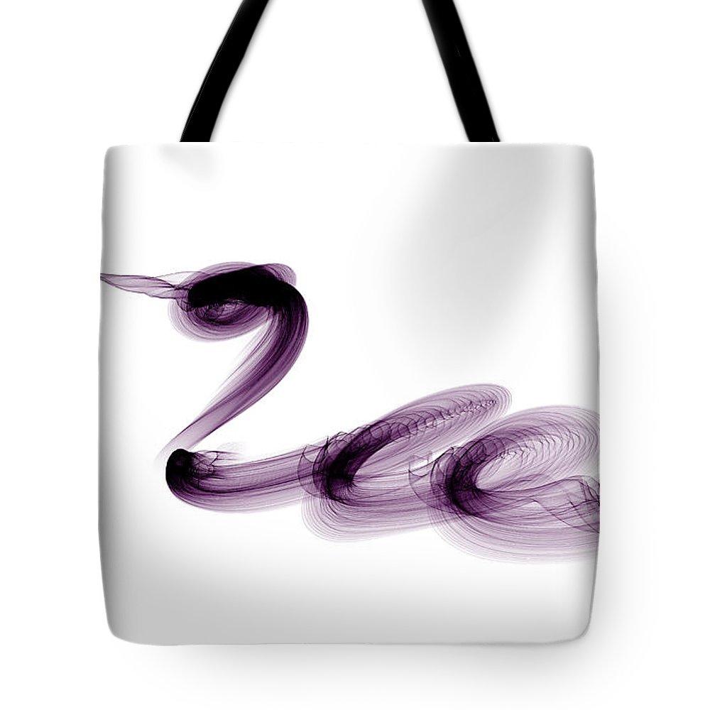 Digital Tote Bag featuring the digital art Snake by Renee Trenholm