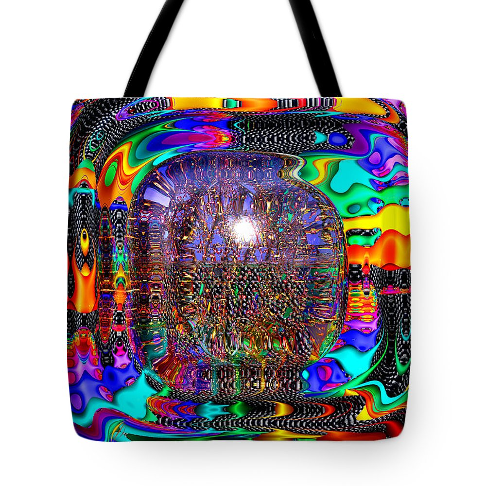 Shiny Tote Bag featuring the digital art Snakes Alive by Robert Orinski