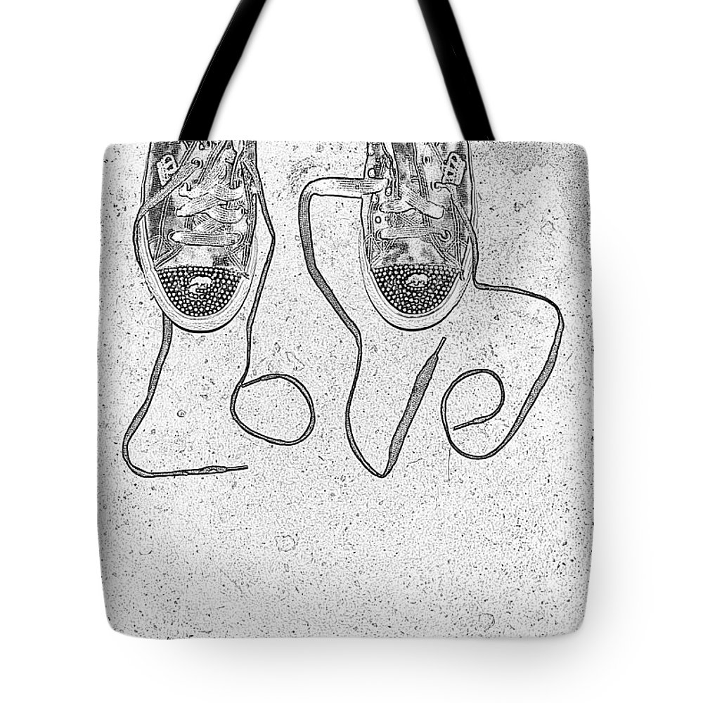 Sneaker Tote Bag featuring the photograph Sneaker Love 2 by Paul Ward