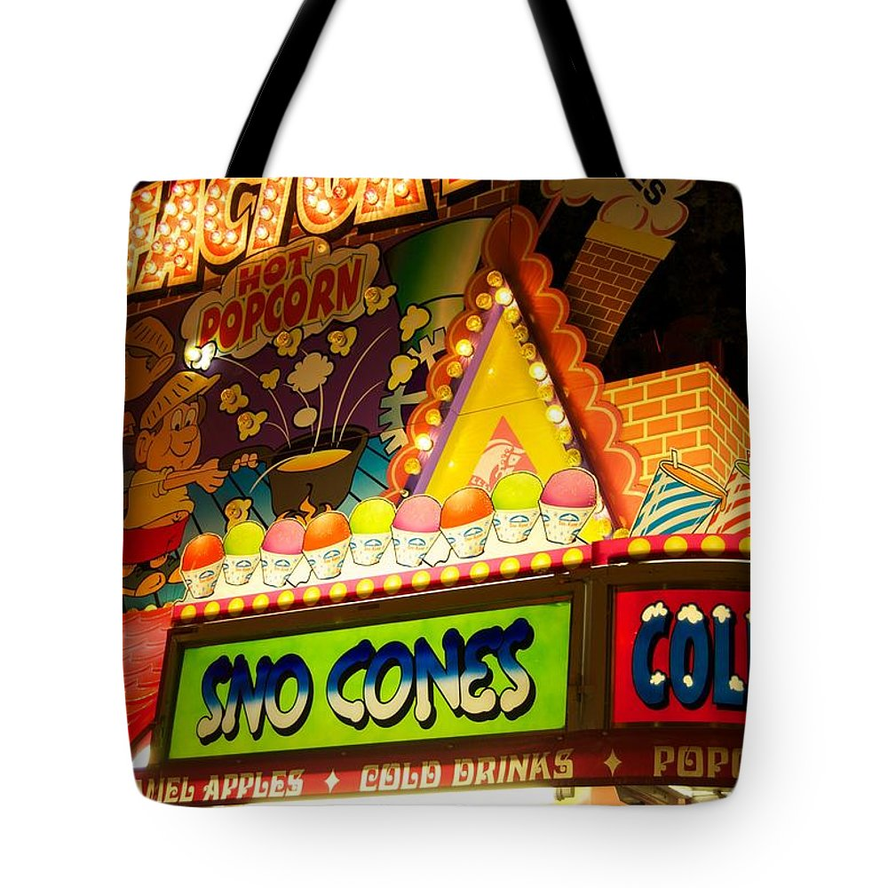 Apples Tote Bag featuring the photograph Sno Cones 4165 by Michael Peychich