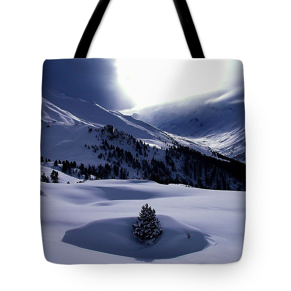 Colette Tote Bag featuring the photograph Snow Mountain Austria by Colette V Hera Guggenheim