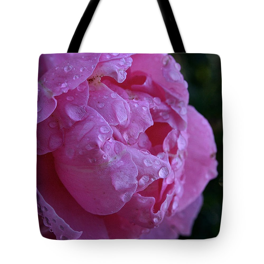 Flower Tote Bag featuring the photograph Soaked by Susan Herber