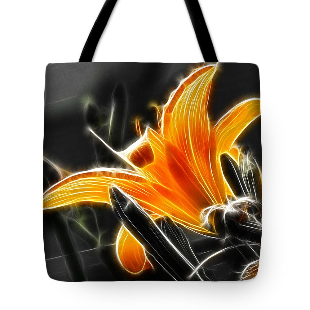 Flowers Tote Bag featuring the digital art Soaking Up The Sun by Adam Vance
