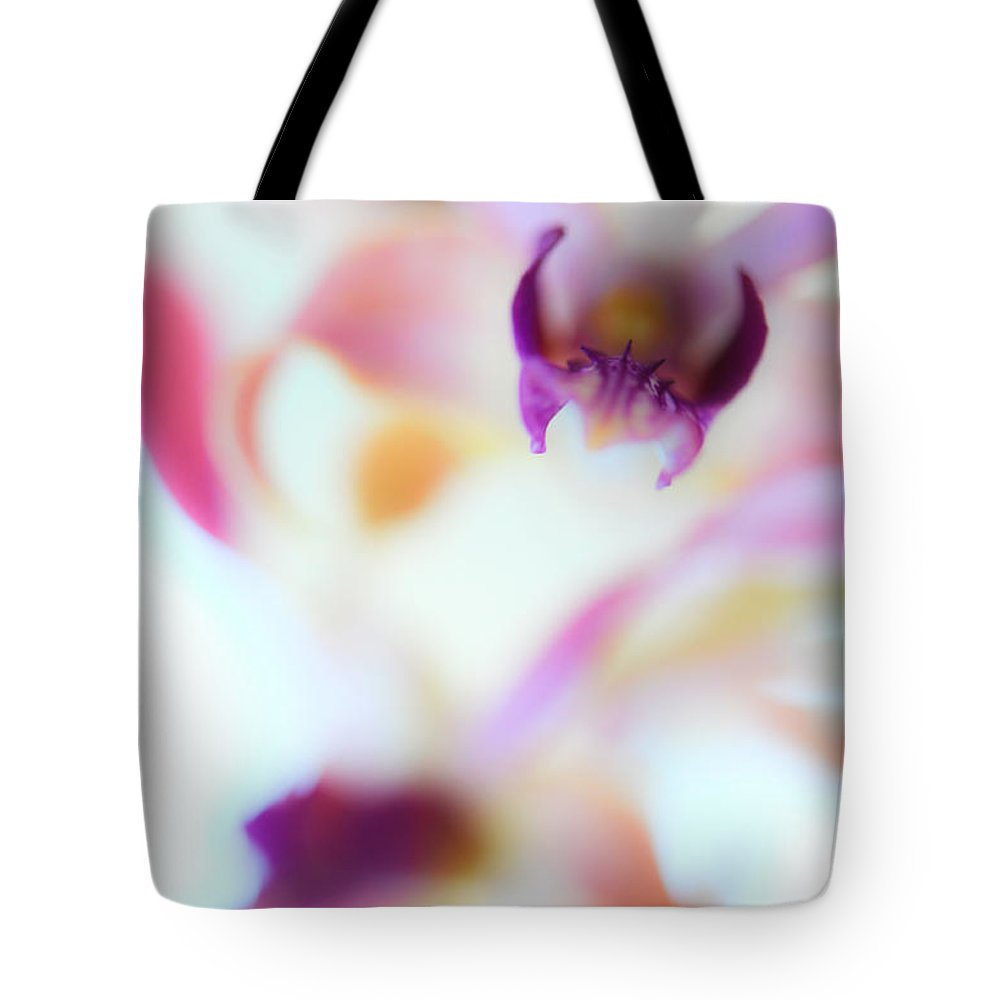 Orchid Tote Bag featuring the photograph Soft Seduction. Orchids by Jenny Rainbow