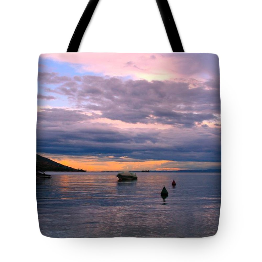 Lake Tote Bag featuring the photograph Soft Water Metal by Anthony Brito