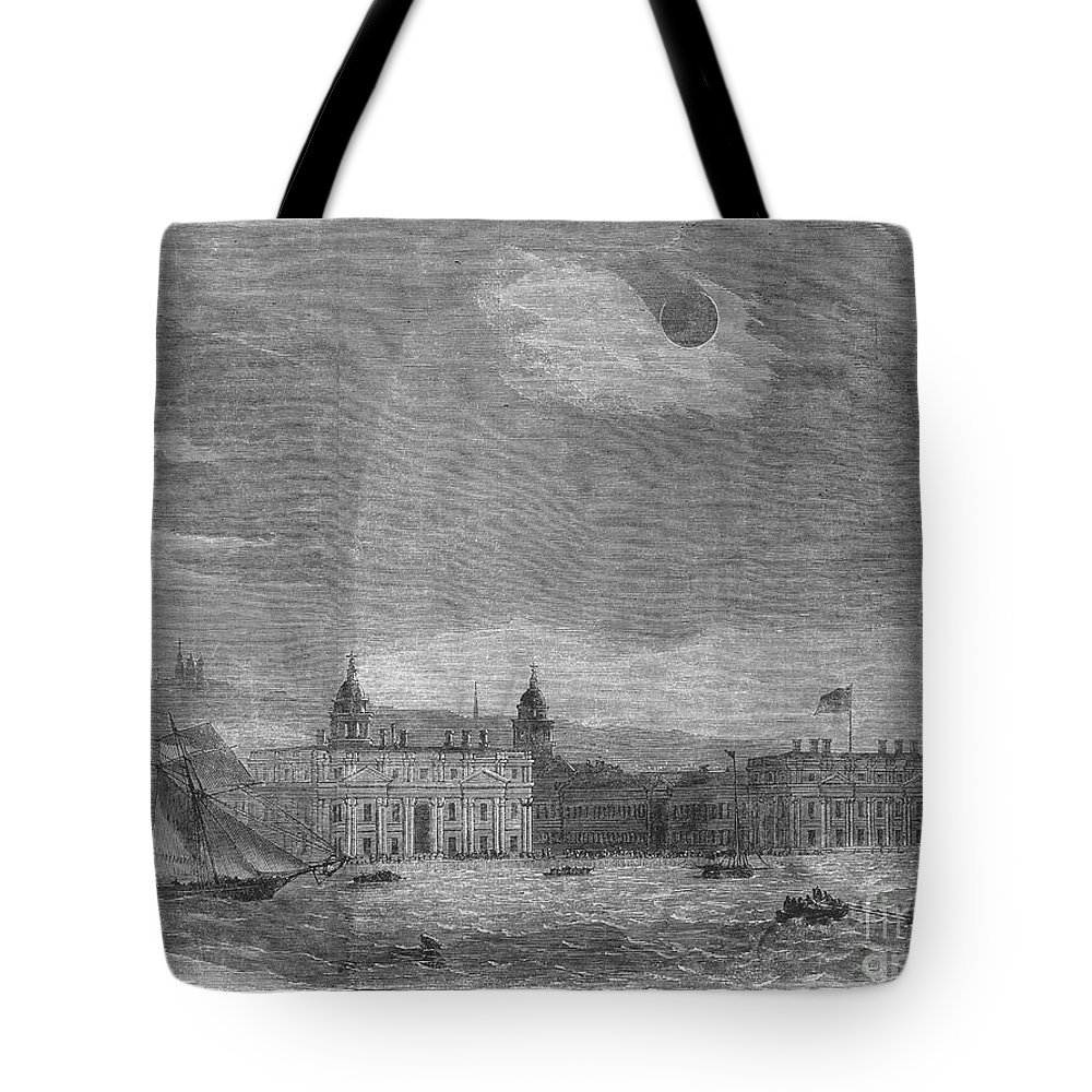 1858 Tote Bag featuring the photograph Solar Eclipse, 1858 by Granger