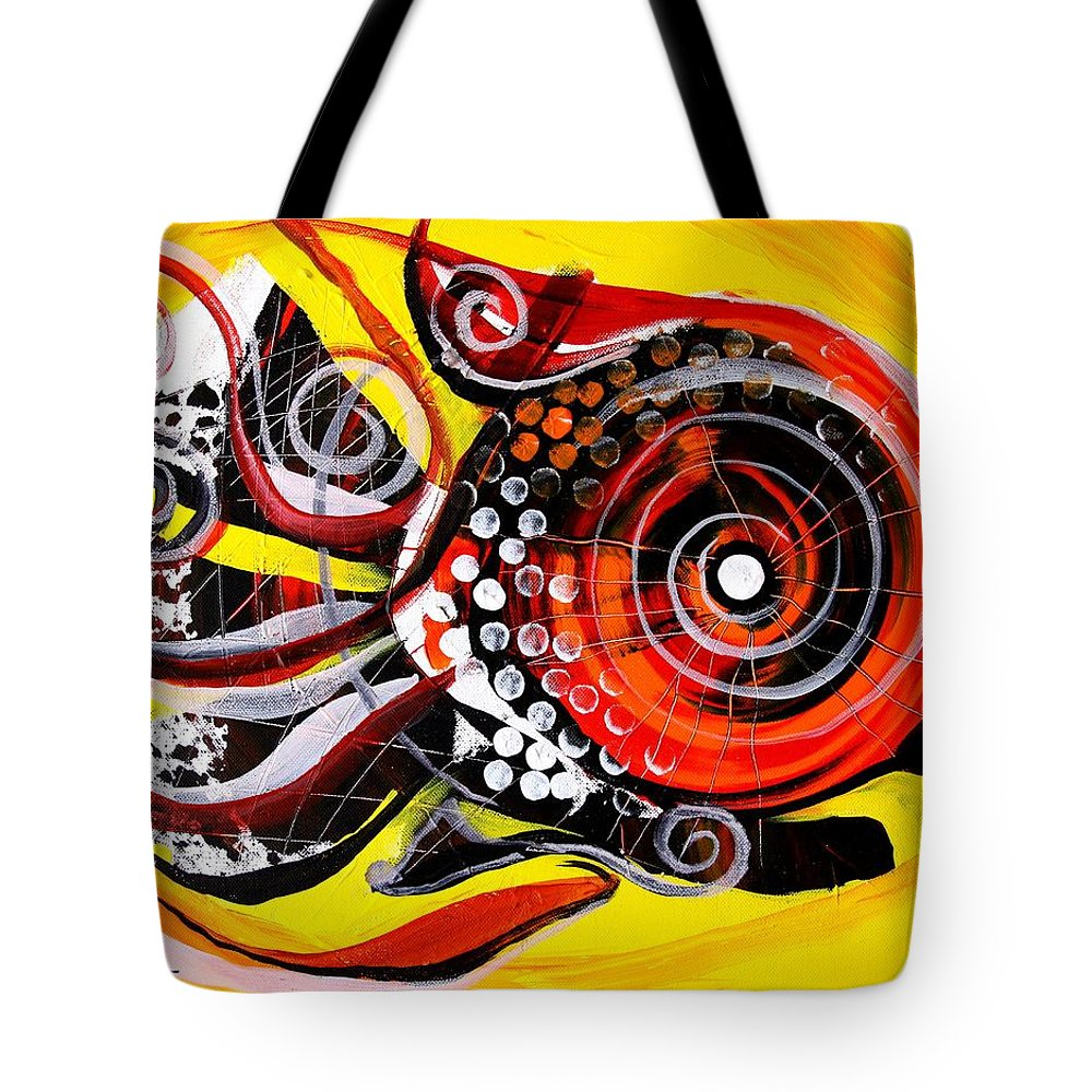 Fish Tote Bag featuring the painting Solo Louisiana Lovebird Fish by J Vincent Scarpace