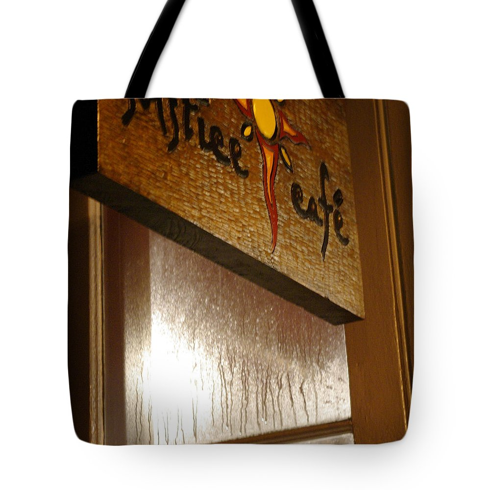 Cafe Tote Bag featuring the photograph Solstice Cafe by Marilyn Wilson