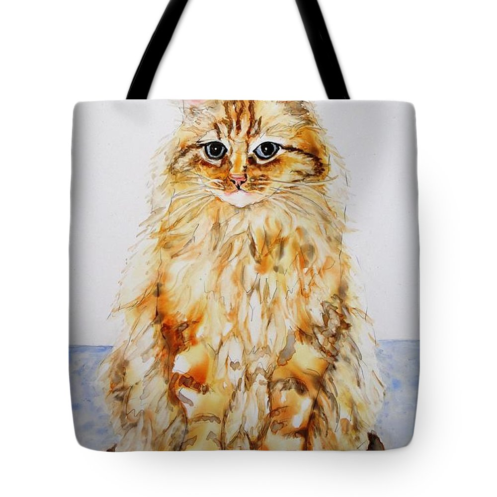 Animal Tote Bag featuring the painting Sophie's Toro by Candy Yu