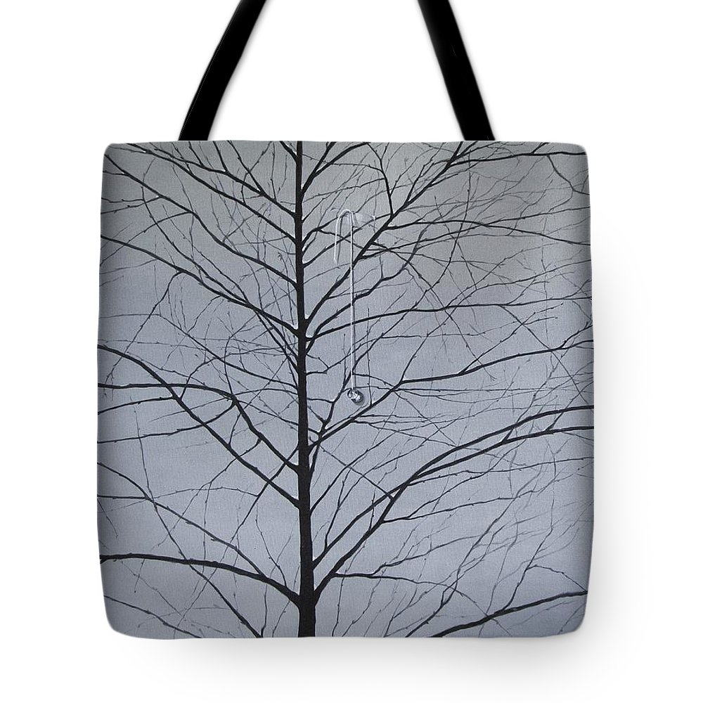 Winter Trees Tote Bag featuring the painting Sorrow by Roger Calle