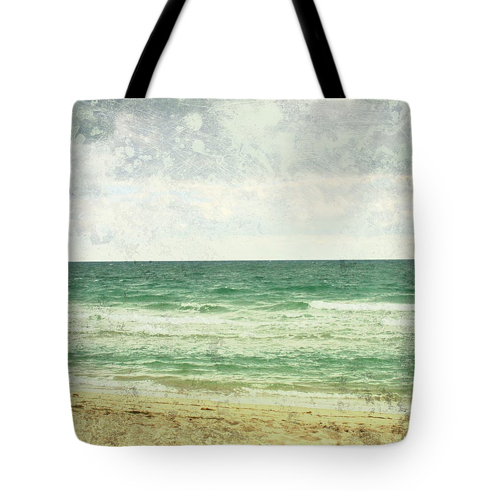 Beach Tote Bag featuring the photograph South Beach by Toni Hopper