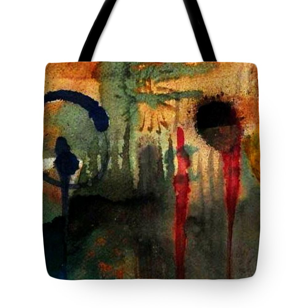Acrylic Tote Bag featuring the painting Southwest Holiday - Wip by Angela L Walker