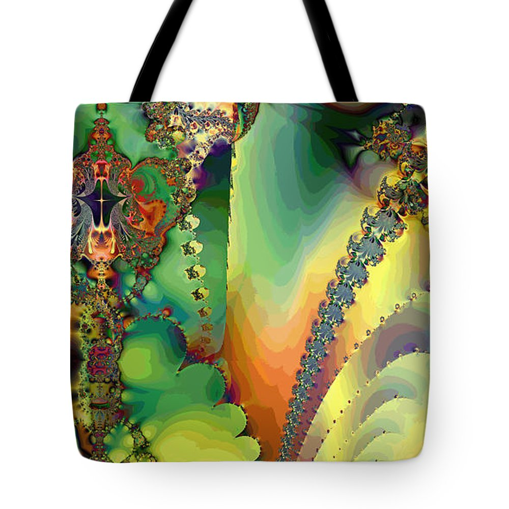 Fractal Tote Bag featuring the digital art Space B Of B by Betsy Knapp