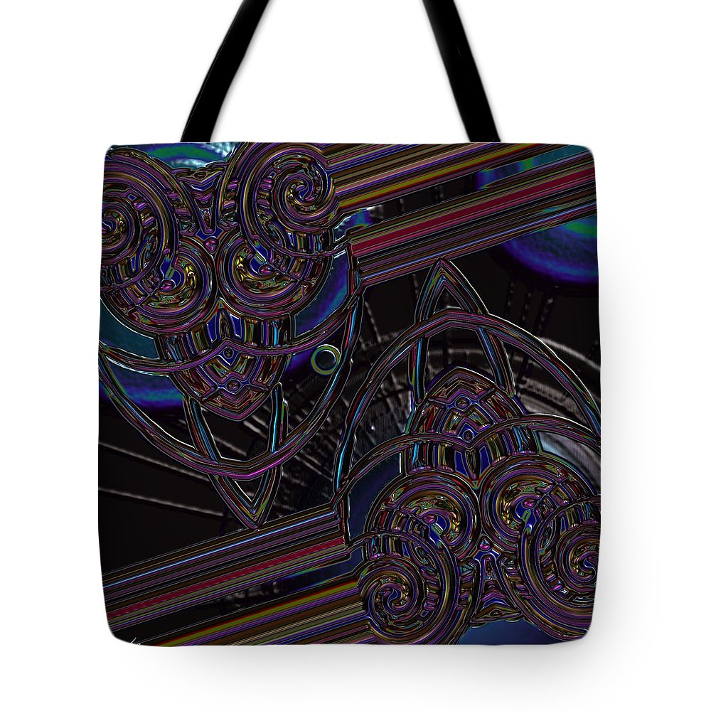Black Tote Bag featuring the photograph Space Glass by Alec Drake