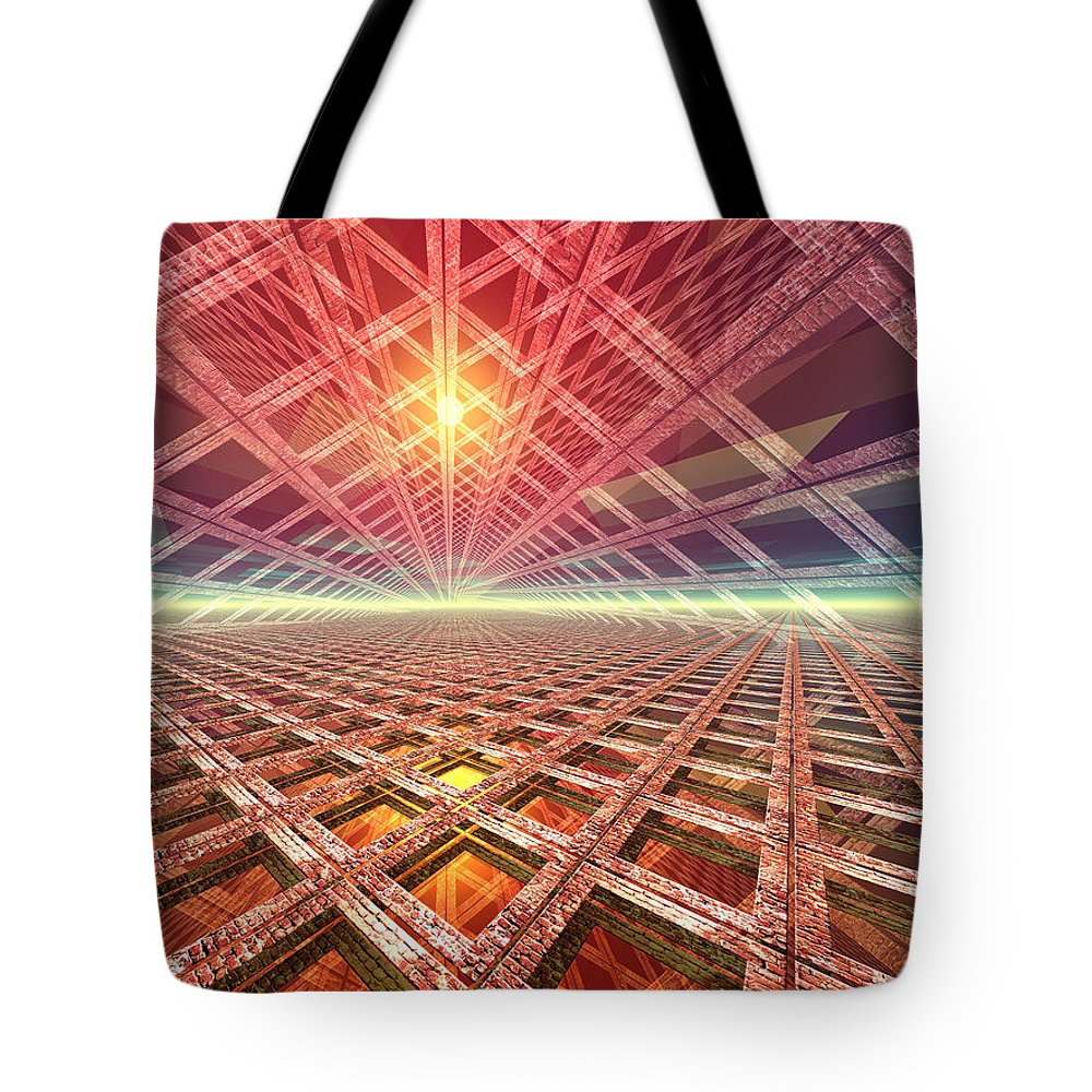 Digital Art Tote Bag featuring the digital art Space Portal To The Stars by Phil Perkins