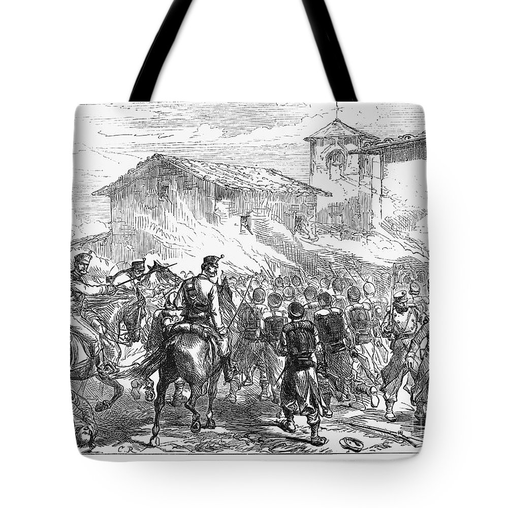 1874 Tote Bag featuring the photograph Spain: Second Carlist War by Granger
