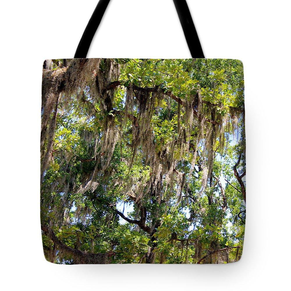 Spanish Moss Tote Bag featuring the photograph Spanish Moss by Kathy White
