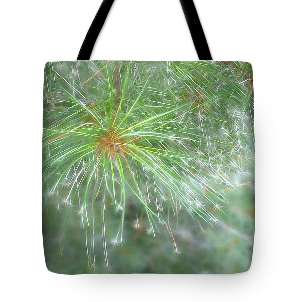 Pine Tote Bag featuring the photograph Sparkly Pine by Rhonda Barrett