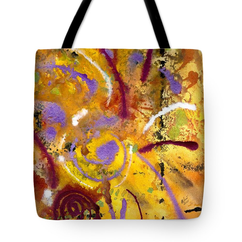 Greeting Cards Tote Bag featuring the painting Sparks Of The Love I Feel For You by Angela L Walker