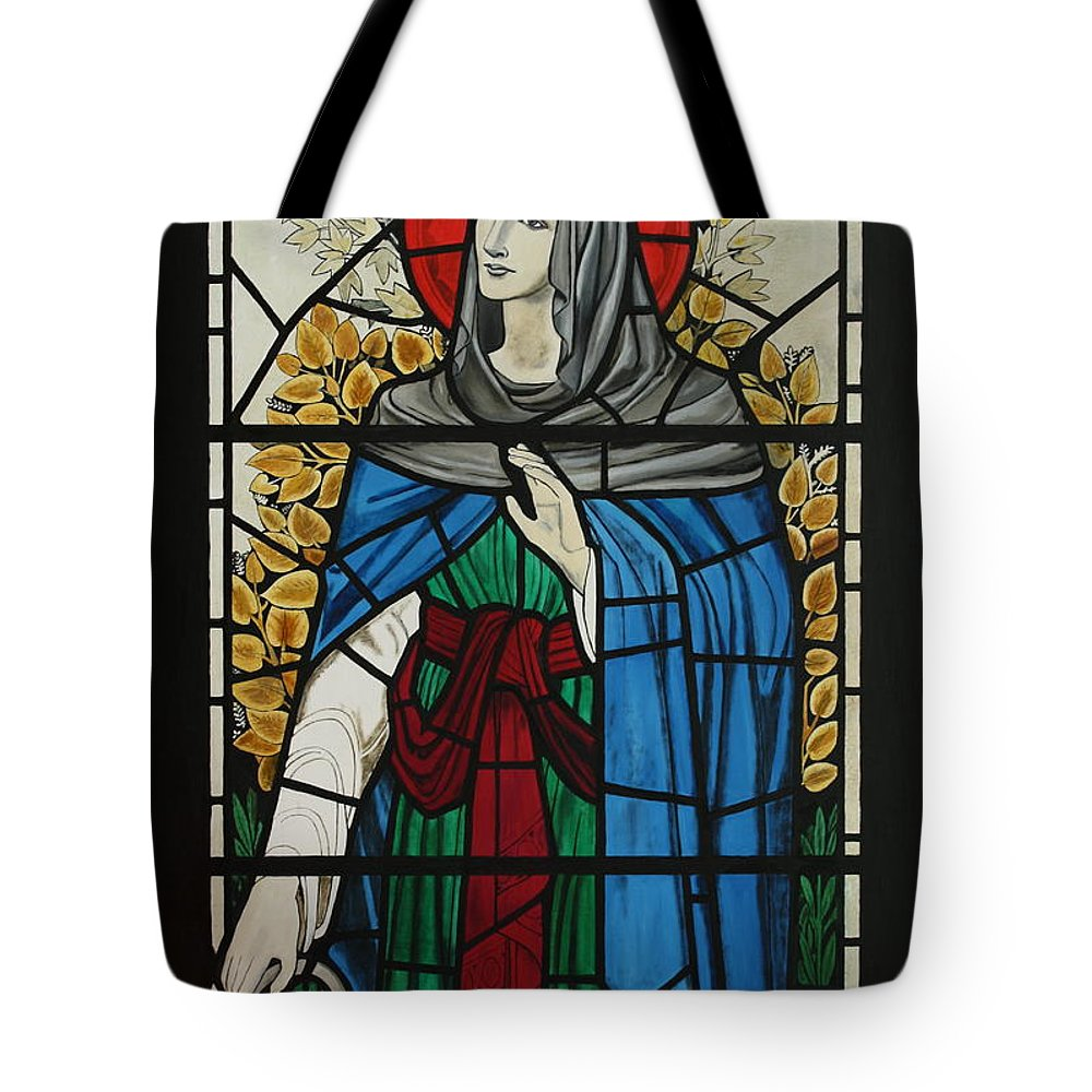 Window Tote Bag featuring the painting Spes Window Detail by Robert Harris