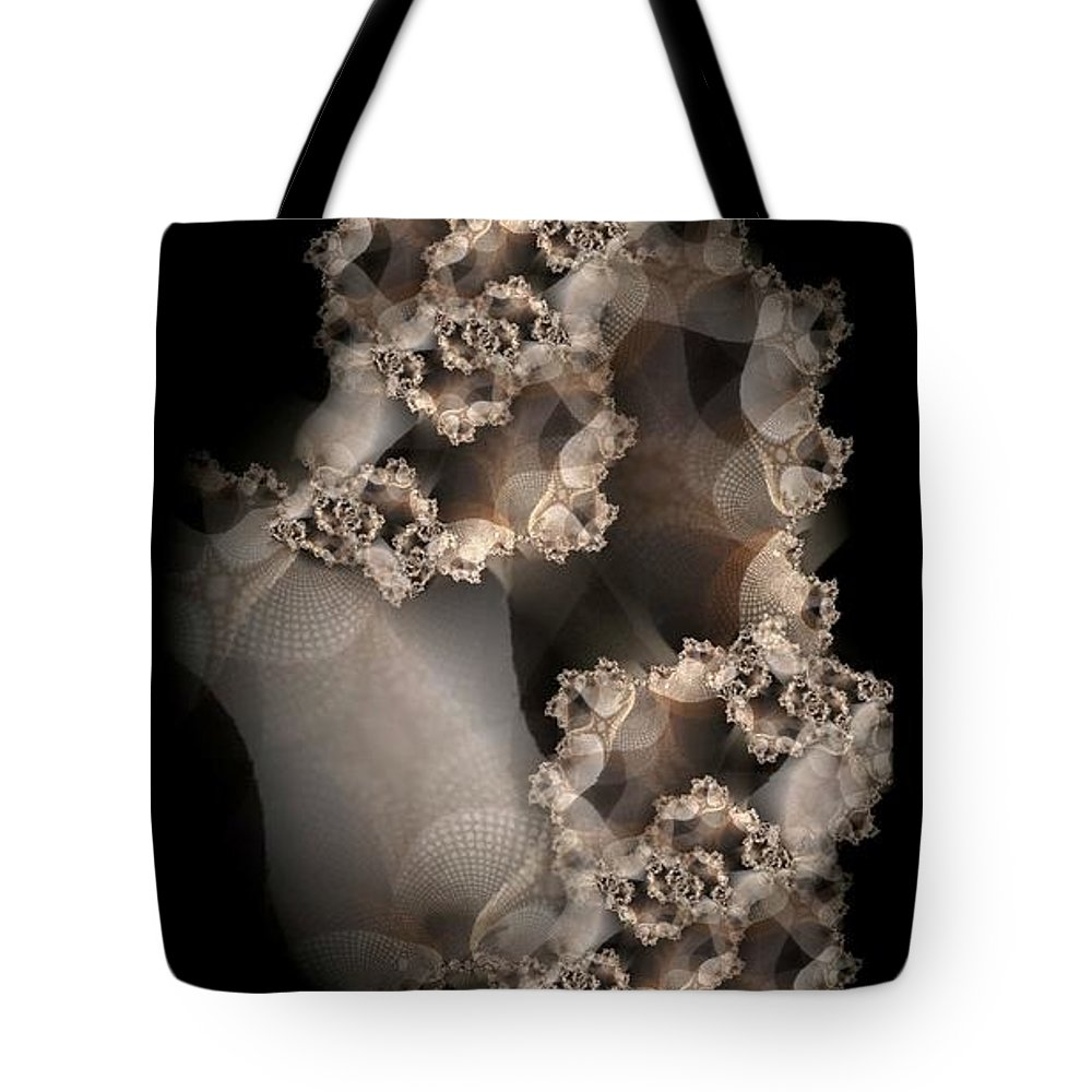 Fractal Tote Bag featuring the digital art Spider Silk by Ron Bissett